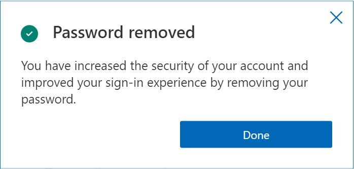 Microsoft Activates Passwordless Login