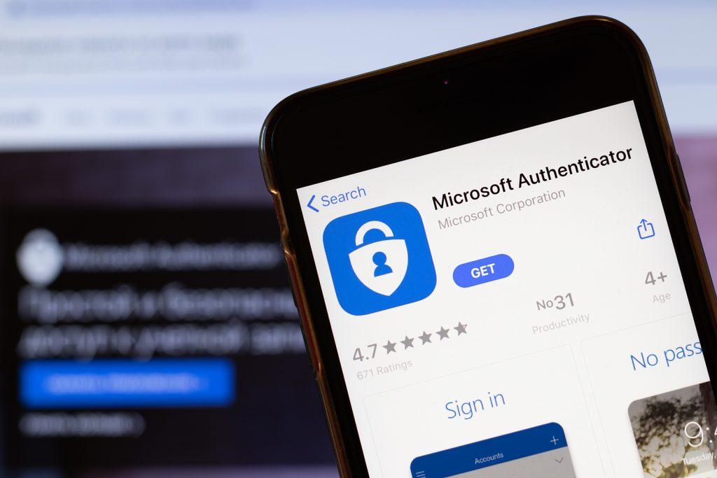 Microsoft Authenticator app