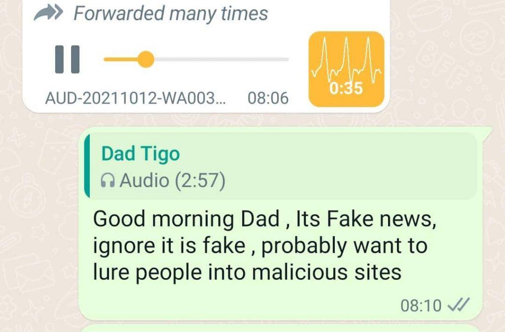 Beware of viral hoax voice message on WhatsApp