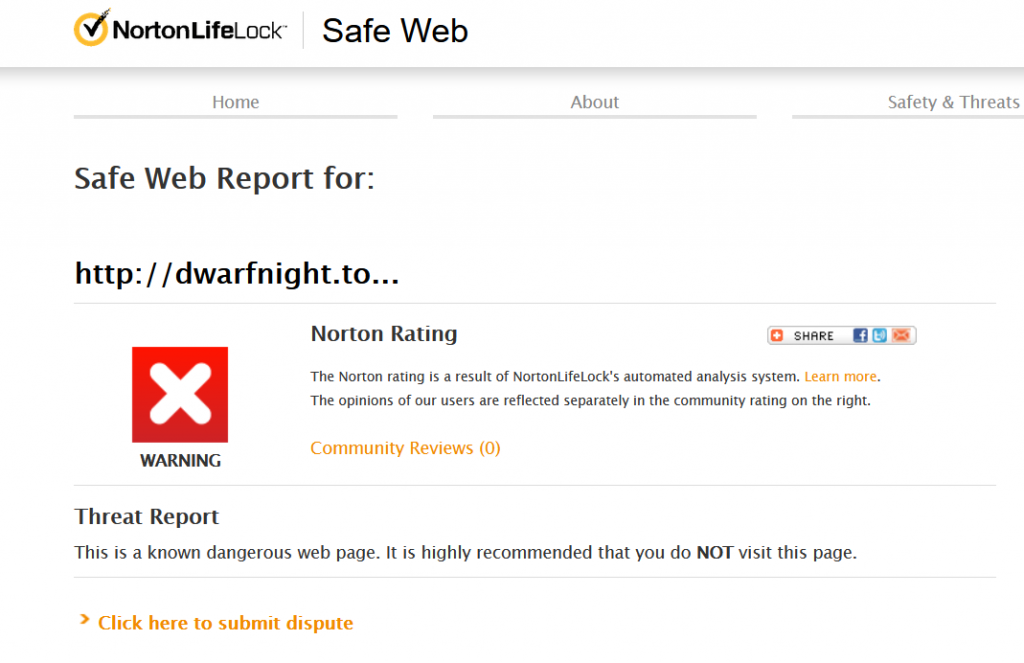 is Safe With Norton Safe Web